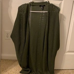 Dark green cardigan